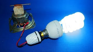 Free Electricity Generator 220V 32W CFL Light Bulb And 2 Magnet New Electric Technology