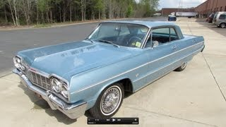 1964 Chevrolet Impala Hardtop Sport Coupe Start Up, Exhaust, and In Depth Review
