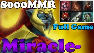 Dota 2 - Miracle- 8000MMR Plays Huskar - Full Game - Ranked Match Gameplay