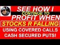 FALLING STOCK MARKETS - See how I do it to make money in UP or DOWN markets