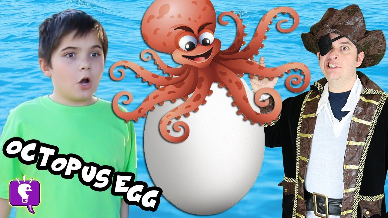 Giant OCTOPUS Pirate Surprise Egg with HobbyKidsTV