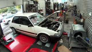 Twincharged Corolla AE82 on dyno - 4agzte - FXGT/FX16