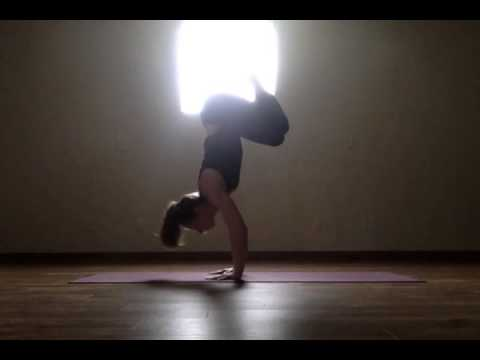 crow to handstand yoga pose  youtube