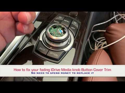 BMW F10 Repair Fading iDrive Media knob Button Cover Trim
