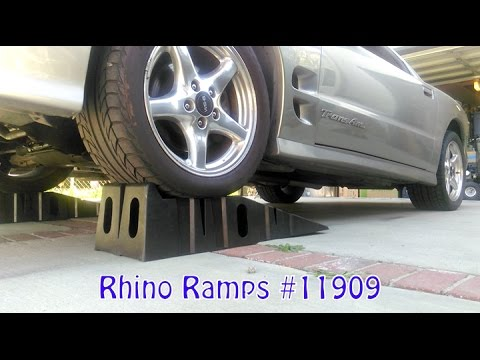 Auto Corner...Rhino Ramps used with my WS6 Trans Am Wide Tires (Akaso EK7000 clip inside)