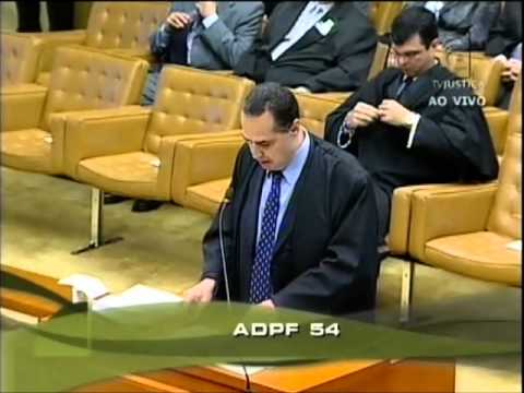 ADPF 54 - Anencefalia - Sustentação Oral Profº Luís Roberto Barroso