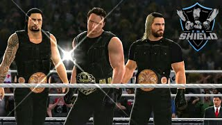 Evolution of The Shield (Rollins, Ambrose, Reigns) in WWE Games