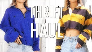 THRIFT TRY ON HAUL | GO THRIFTING WITH ME + TIPS FOR THRIFTING