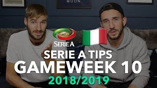 Serie A Tips - Gameweek 10 - 2018/2019