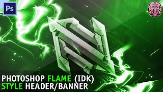 Tutorial: Flame Style Header/Banner | Photoshop CC by Qehzy