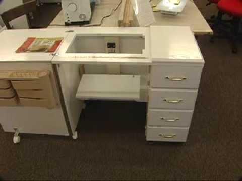 Sewing Machine Cabinets Bernina Stylish Fabrics Youtube