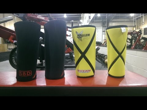 SBD knee sleeves VS Titan Yellow Jacket knee sleeves review (front squat and deads)
