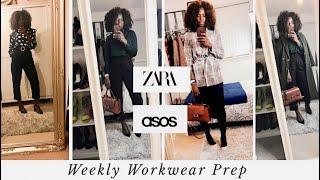 Weekly Workwear Outfits | 1 Item Styled 5 Ways #workwear #zara, #asos #h&m