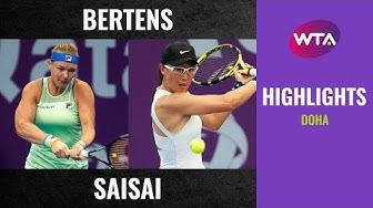 Kiki Bertens vs. Zheng Saisai | 2020 Doha Third Round | WTA Highlights