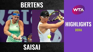 Kiki Bertens Vs. Zheng Saisai | 2020 Doha Third Round | Wta Highlights