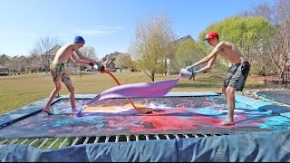 TRAMPOLINE VS PAINT!