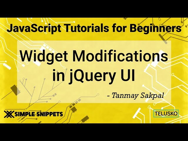 Widget Modifications in JQuery UI using Getter and Setter Methods