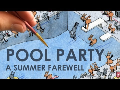 a-summer-farewell---ant-pool-party-illustration