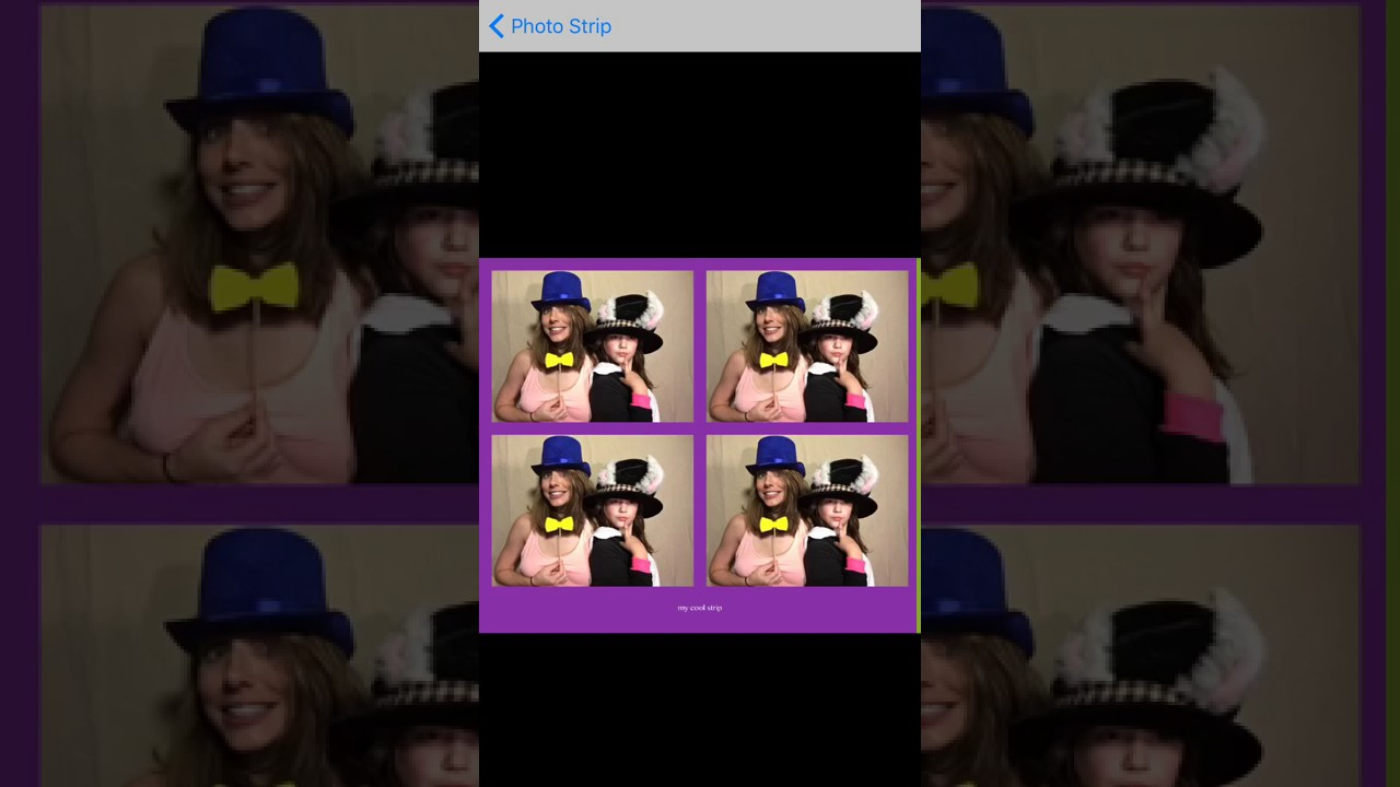 Pg Booth The Best Diy Photo Booth App Photo Strip Settings Youtube