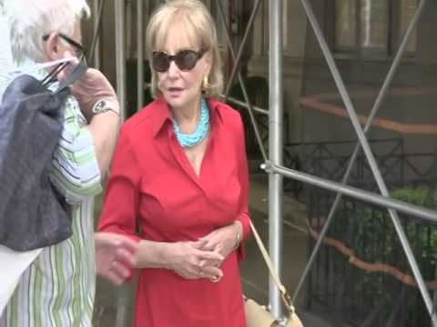 The View Host Barbara Walters Is Sned Leaving Her Apartment In New York City Wit