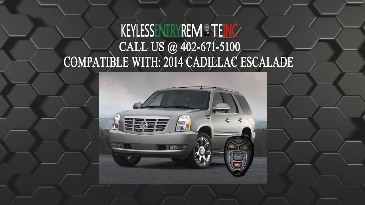 How To Replace Cadillac Escalade Key Fob Battery 2014 Youtube