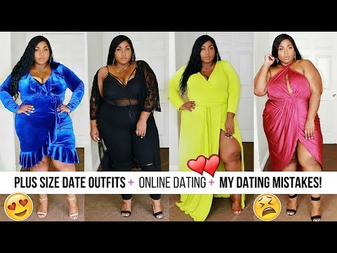 PLUS SIZE FASHION & OUTFIT TRY ON | ONLINE DATING + MY TOP 5 DATING MISTAKES!