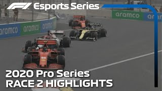 2020 F1 Esports Pro Series Presented by Aramco: Race 2 Highlights