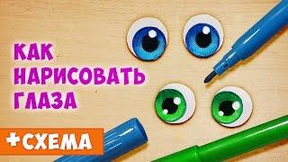 Как нарисовать глаза. Урок по просьбе подписчиков! :)
