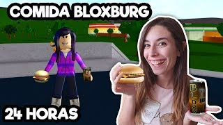 24 HOURS EATING BLOXBURG THINGS IN REAL LIFE (ROBLOX)