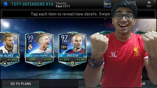 FIFA Mobile ~ OMG! 99 TOTY RONALDO + 2 TOTY IN THE SAME PACK OPENING VIDEO !
