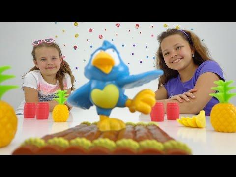 Развивающие игры для детей: Ксюша, Настя (Капуки дети и родители) и Попугай на Плоту.