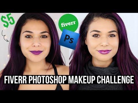 FIVERR PHOTOSHOP MAKEUP CHALLENGE | fiverr does my makeup