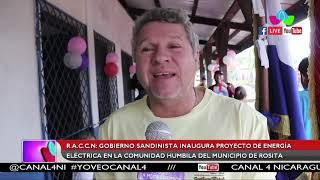 Inauguran proyecto de energía eléctrica en la comunidad Humbila de Rosita