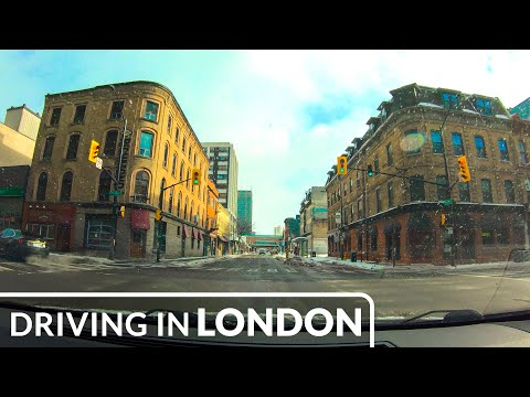 London, Ontario, Canada - Downtown Drive 4K