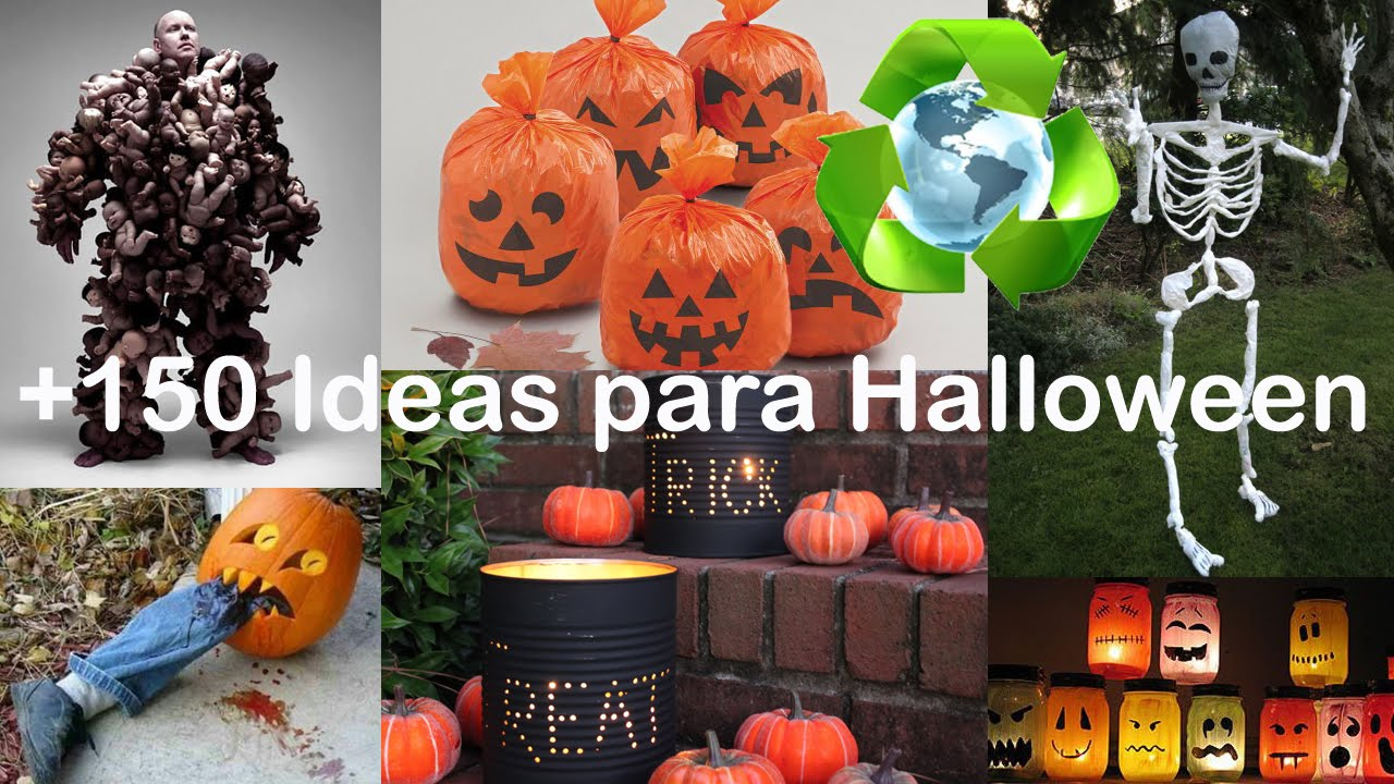 Ideas con reciclaje para halloween youtube - Decoracion halloween 2017 ...