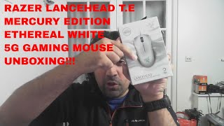 Razer Lancehead Tournament Edition MERCURY Ethereal White Gaming Mouse Unboxing & First Impressions!