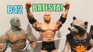 WWE ACTION INSIDER: Batista Series 42 NEW Mattel Basic Wrestling Figure Toy Review!