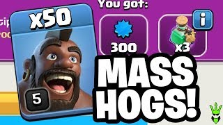 CAN YOU WIN RAIDS WITH 50 HOGS?! - Let
