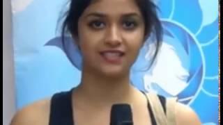 Actress Keerthi suresh speak malayalam very nice in the shooting spot