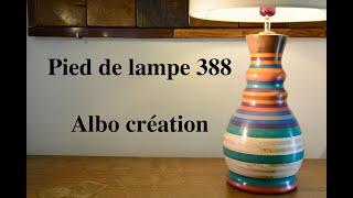 Création pied de lampe. Valchromat. 388.