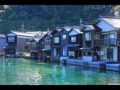 JAPAN GEOGRAPHIC 4K 京都府 伊根 舟屋の街並 Ine Funaya,Kyoto pref.
