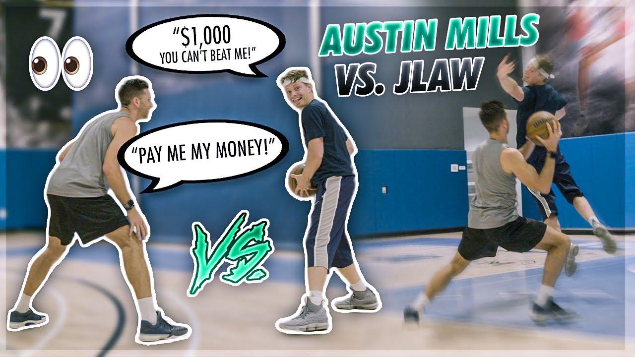 1v1 Against Austin Mills Gets Intense! 😱  Jordan Lawley Basketball