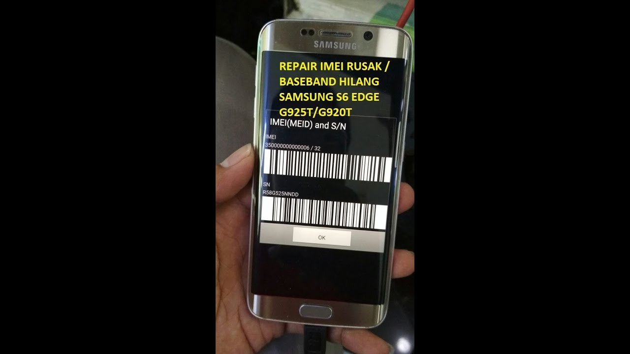 Unknown Baseband and imei repair fix on Samsung Galaxy G925f