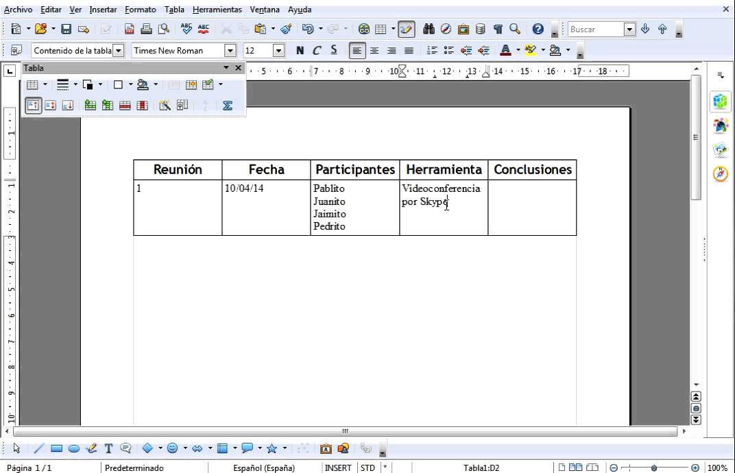 Como hacer un acta de reuniones en tabla - YouTube - formatos de minutas en excel