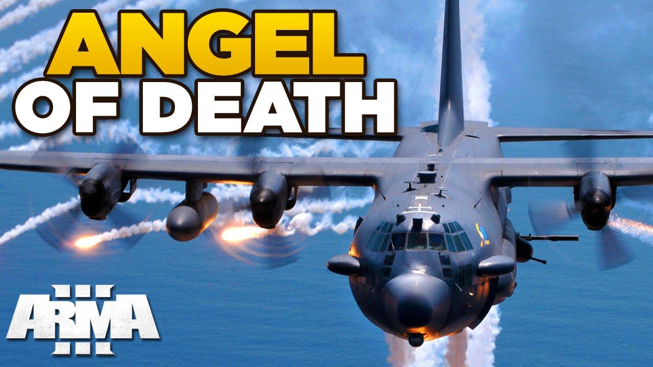 angel of death arma 3 ac 130 spectre usaf mod youtube