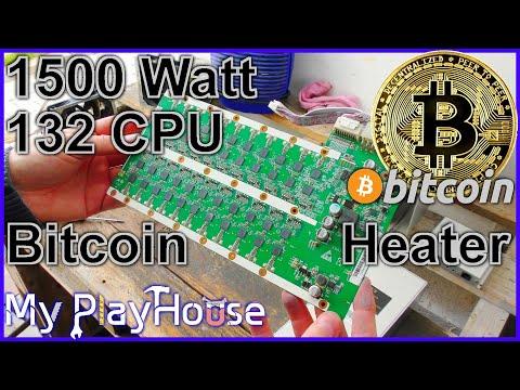 Cleaning 132 CPU BitCoin Miner or 1500 Watt Heater - 874