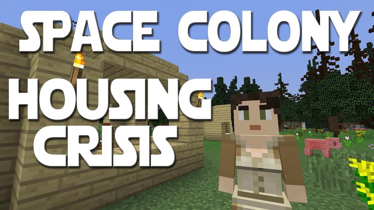Minecolonies Space Colony ep 3 - The Housing Crisis