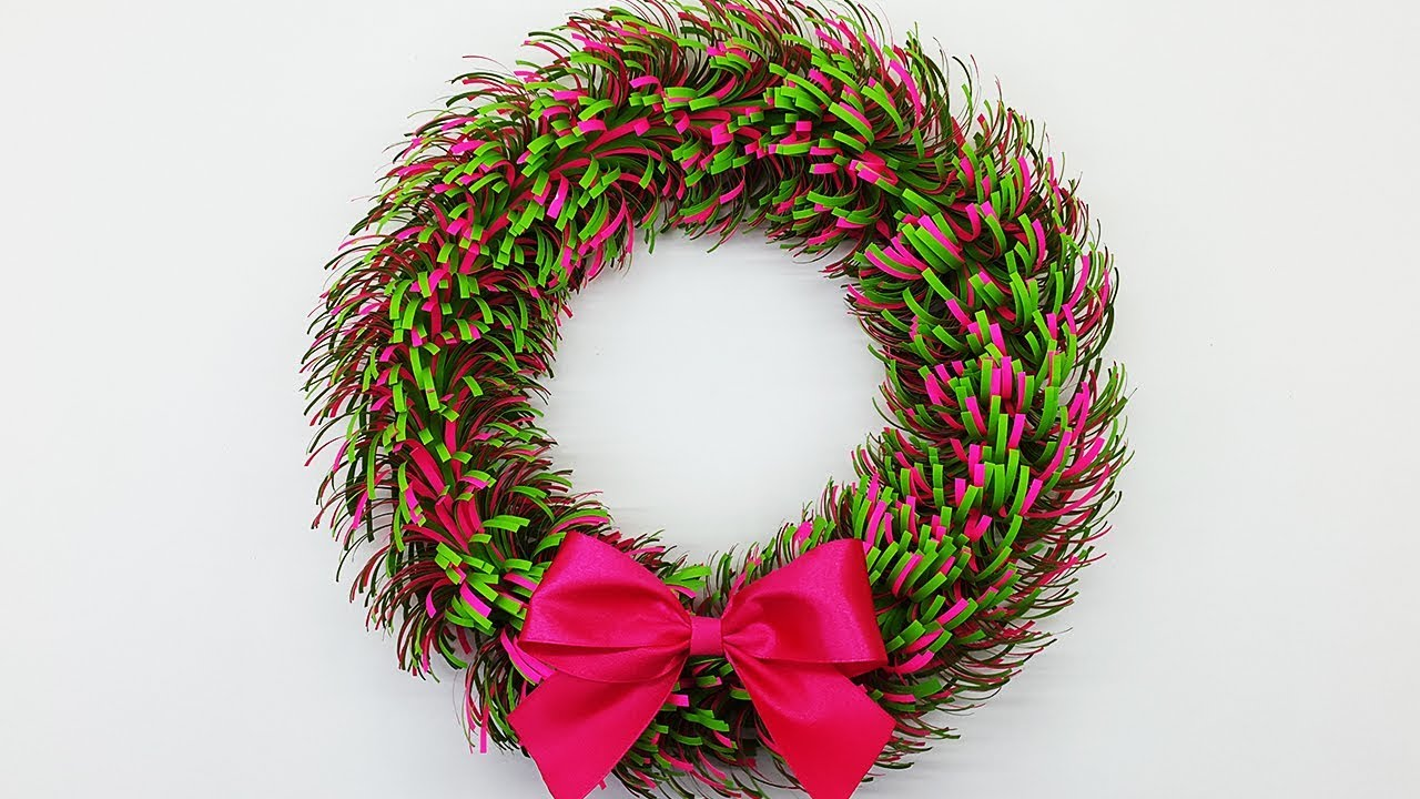 Paper Christmas Wreath Designs.Paper Wreath For Christmas Diy Christmas Decorations Ideas