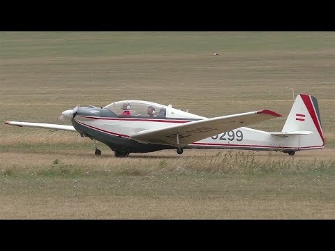 Scheibe SF-28 Tandem Falke landing at Airfield Spitzerberg | OE-9299