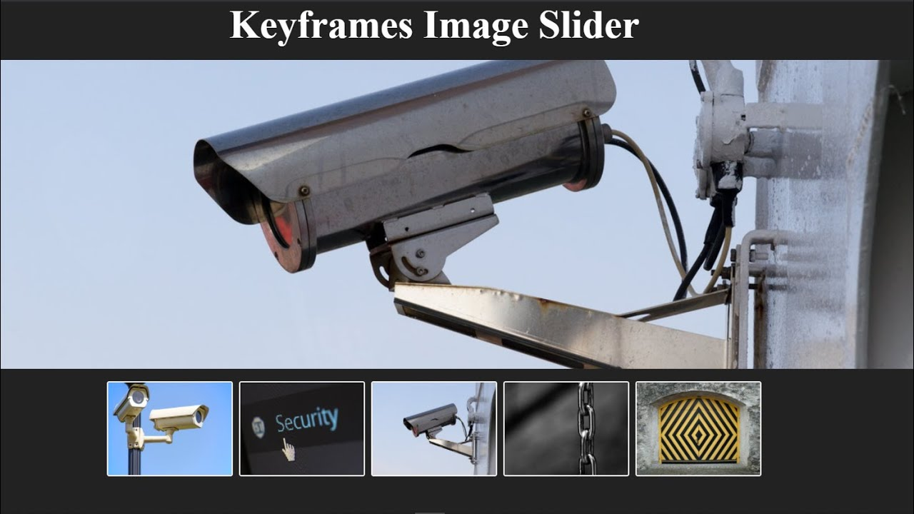 Image Slider using HTML and CSS (no JavaScript)